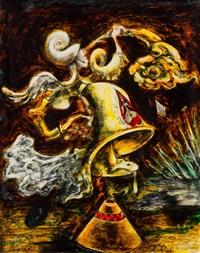 automne trompette de fourrure (le carillon muet) aka trumpet of fur & kite by kurt seligmann