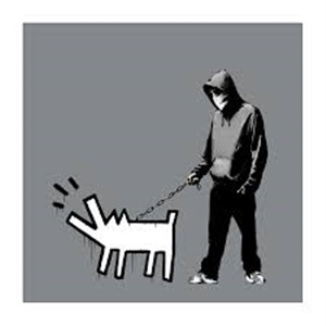 choose your weapon (dark grey) by banksy