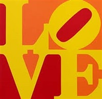 love (red yellow orange) by robert indiana