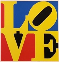 love (red yellow blue) by robert indiana