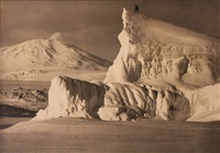 mount erebus and iceberg by herbert george ponting