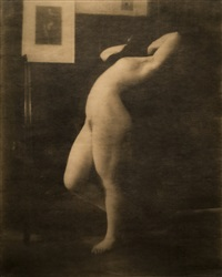 nude study, mary warner, tyrol, austria by heinrich kühn