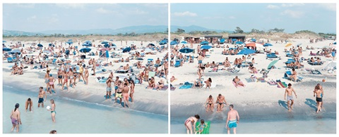 rosignano diptych 2 works by massimo vitali