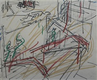 euston steps by frank auerbach