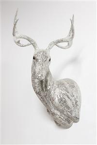 untitled (scraped crystal buck head) by marc swanson