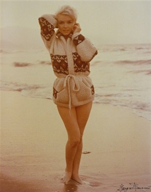 in surf with sweater (4d), last photos by george barris