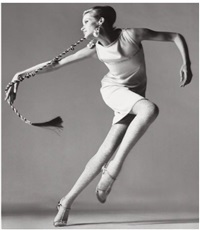 verushka, dress by kimberly, new york, january by richard avedon