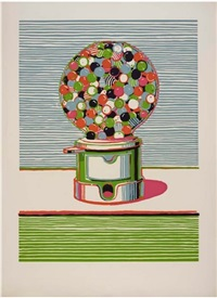 gumball machine (from seven still lifes and a silver landscape portfolio) by wayne thiebaud
