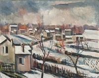 paysage de neige by maurice de vlaminck