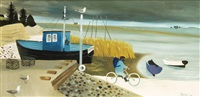 norfolk coast with bicycle by mary fedden