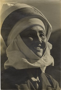 portrait of kirghiz woman by max vladimirovitch alpert