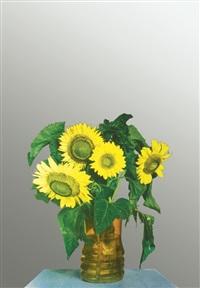 sunflowers by michelangelo pistoletto
