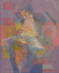 maternité bleue by jacques villon