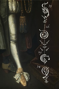 the calligraphy of dance no.17 the king's leg c.1680 by tessa traeger
