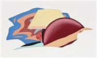 study for nude with bad abstract painting by tom wesselmann