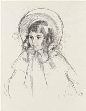 sara wearing her bonnet and coat by mary cassatt