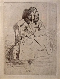 annie seated by james abbott mcneill whistler