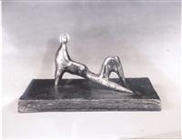 reclining figure: stiff leg by henry moore