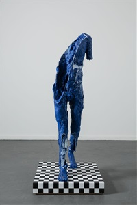 blue figure by david altmejd