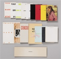 a complete & signed collection of ed ruscha first edition artists' books by ed ruscha