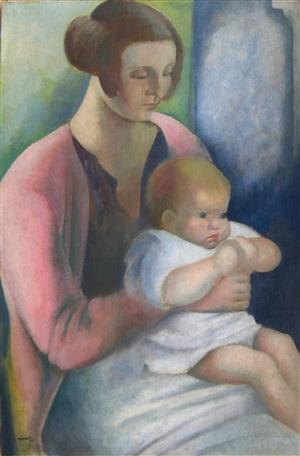 mother and child by bernard meninsky