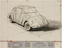 wrapped volkswagen (project for 1961 volkswagen) by christo and jeanne-claude