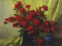 still life with roses by a.d. greer