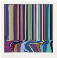 purple, green by ian davenport
