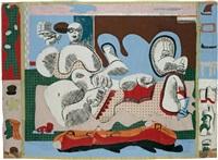 deux femmes étendues / etude pour tapisserie by le corbusier