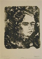 head of a girl by erich heckel