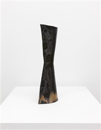 untitled (black vase with brown glazing) by fausto melotti