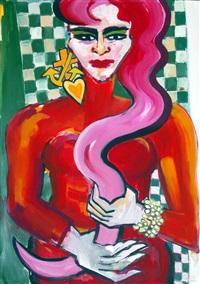 red snake by elvira bach