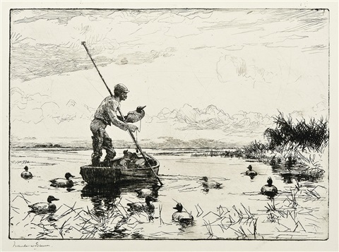 setting decoys by frank weston benson