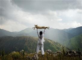holding the lamb by marina abramovic
