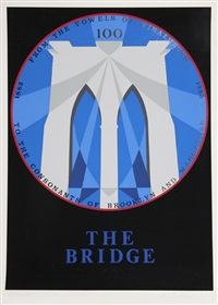 the bridge (brooklyn bridge) by robert indiana