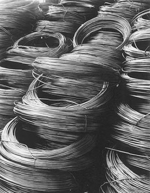 coiled rod, (ready for drawing into wire), aluminum co. of america by margaret bourke-white