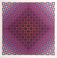 untitled from permutations (purple) by victor vasarely