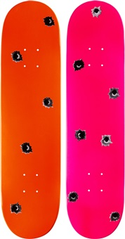 untitled skate decks (set of 2) by nate lowman