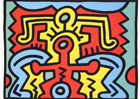 growing 5 by keith haring