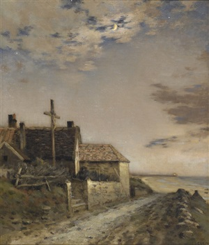 road by the sea by jean-charles cazin