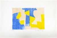 composition bleue rose et jaune by serge poliakoff