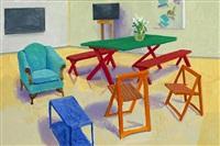 studio interior #2 by david hockney