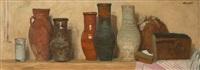 shelf with a jugs by geli korzhev