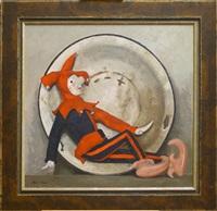 still life with a jester by geli korzhev