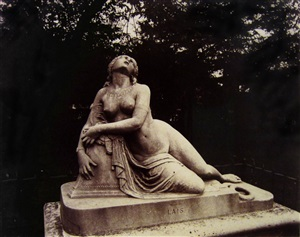 statue of lais by eugène atget