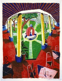 view of hotel well lll by david hockney