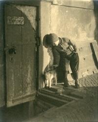 boy with cat by jaromir funke