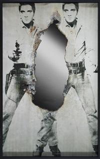 self-portrait of you + me (double elvis) by douglas gordon
