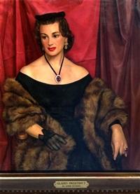 portrait of gladys swarthout by luigi lucioni