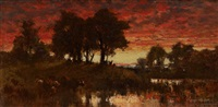 the evening hour, summer by andrew fisher bunner